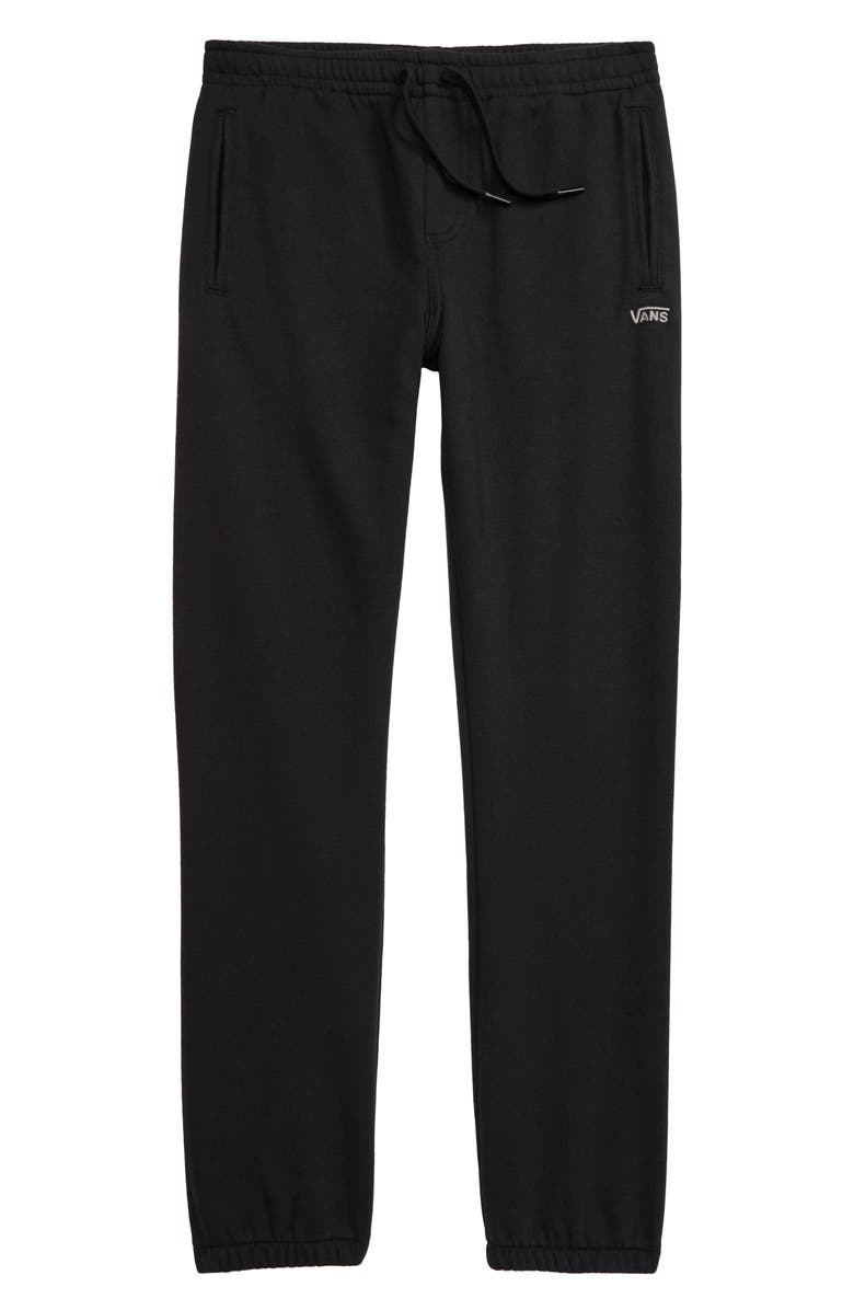 VANS Fleece Sweatpants, Main, color, BLACK