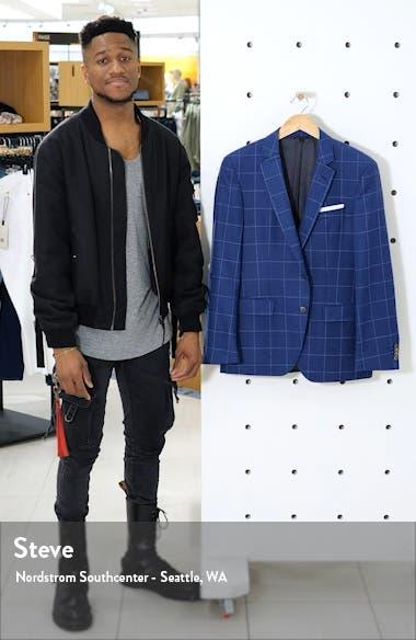 Hutsons Trim Fit Windowpane Wool Sport Coat, sales video thumbnail