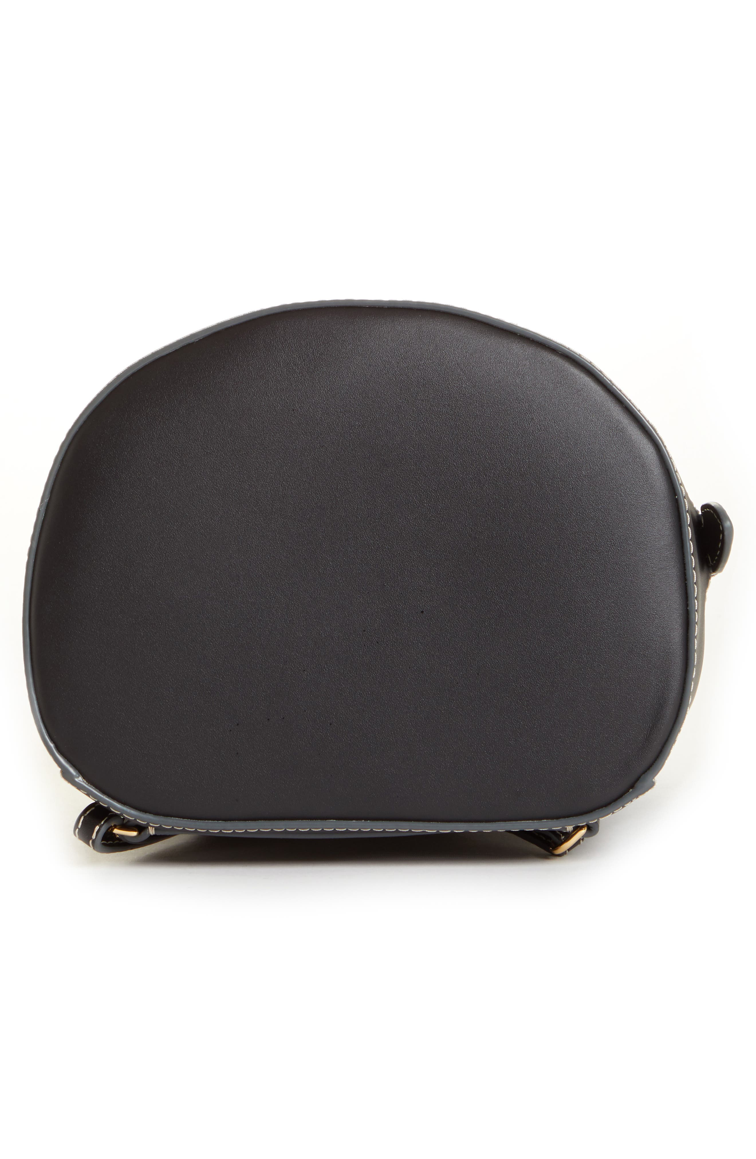 ,                             Jamie Leather Backpack,                             Alternate thumbnail 7, color,                             BLACK