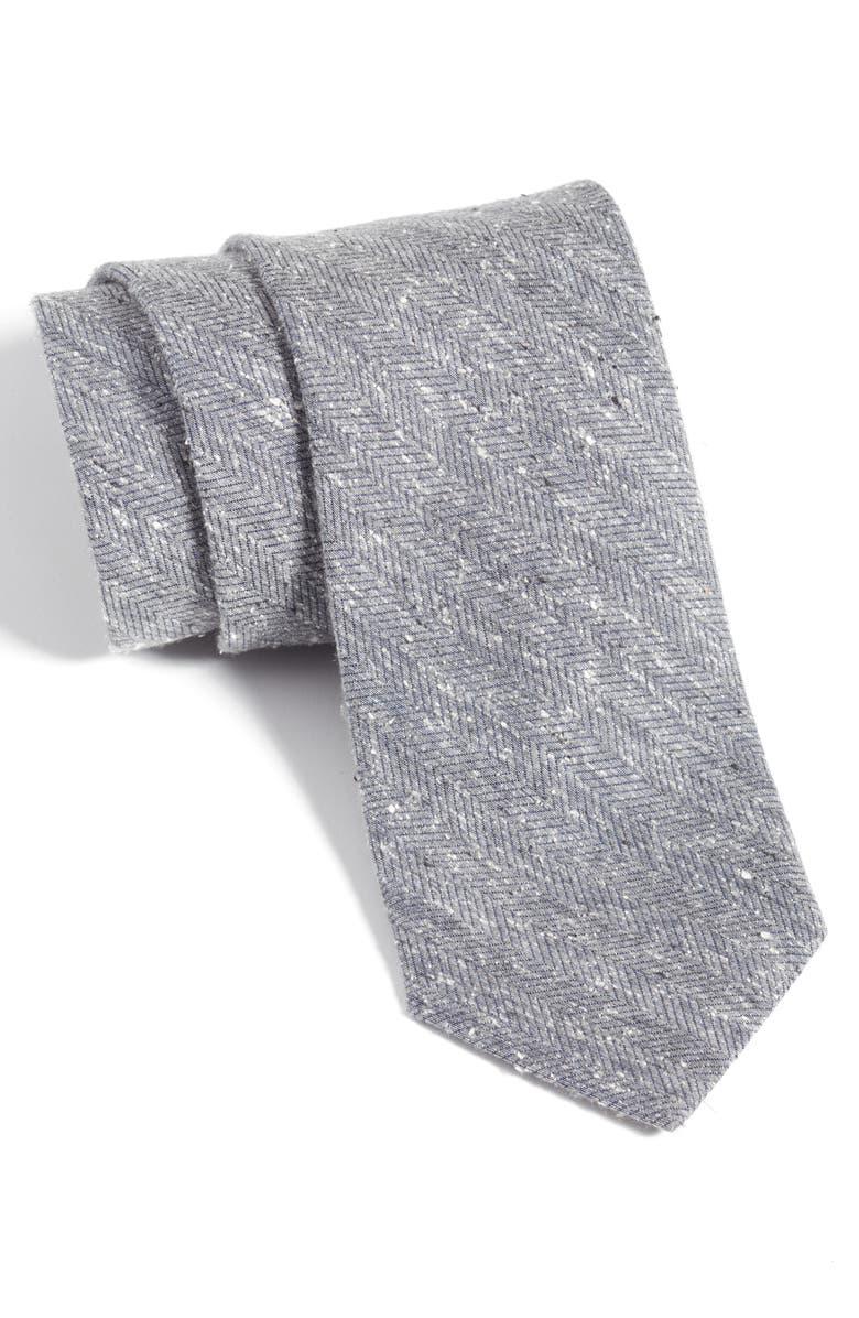 NORDSTROM MEN'S SHOP Cobb Textured Silk Tie, Main, color, 020