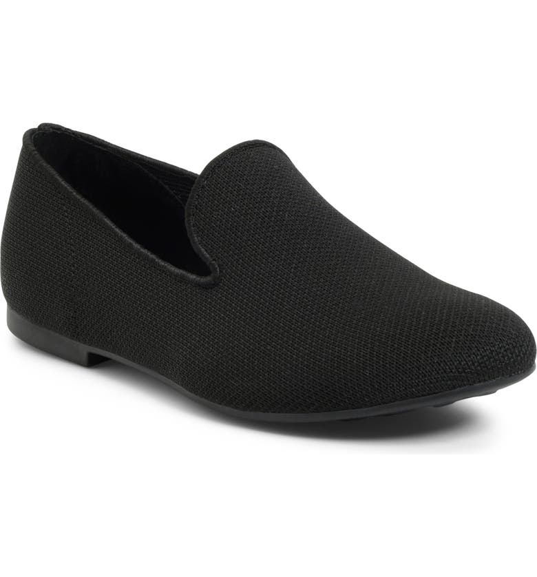 BØRN Bhanna Water Resistant Knit Loafer, Main, color, BLACK KNIT