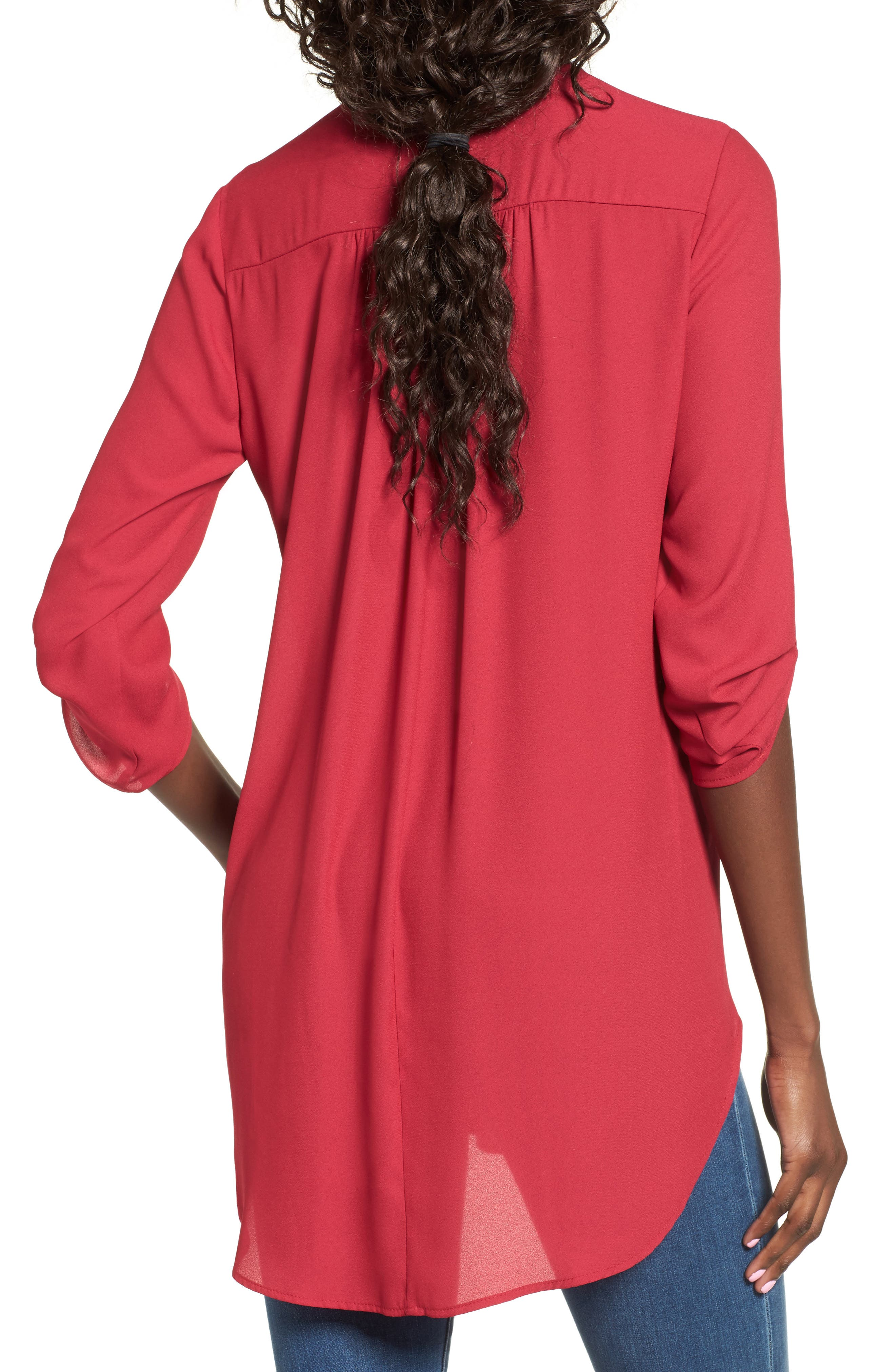 ,                             Perfect Roll Tab Sleeve Tunic,                             Alternate thumbnail 344, color,                             605