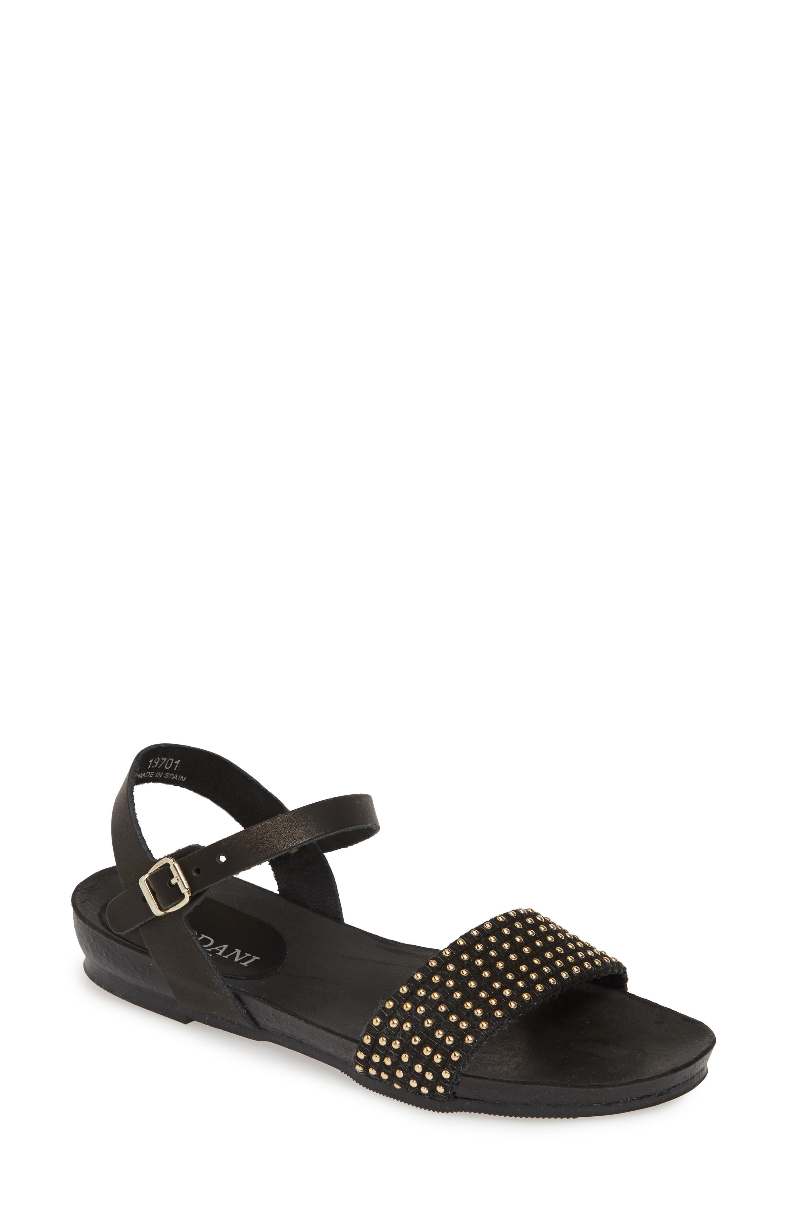 Cordani Sonya Studded Sandal - Black