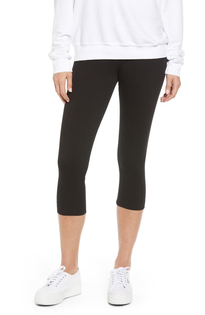 LYSSÉ Denim Capri Leggings, Main, color, BLACK