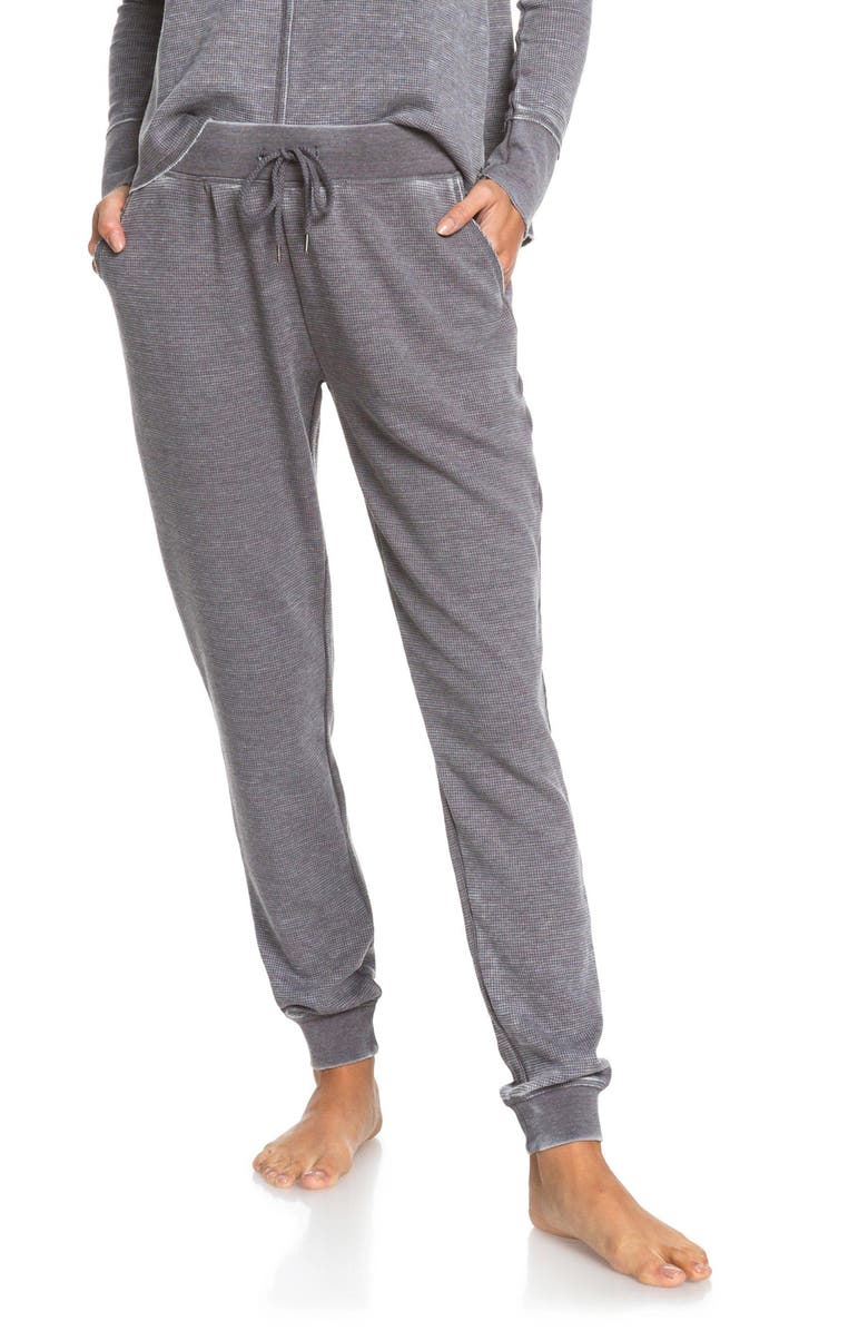 ROXY Look Lively Thermal Pants, Main, color, CHARCOAL HEATHER