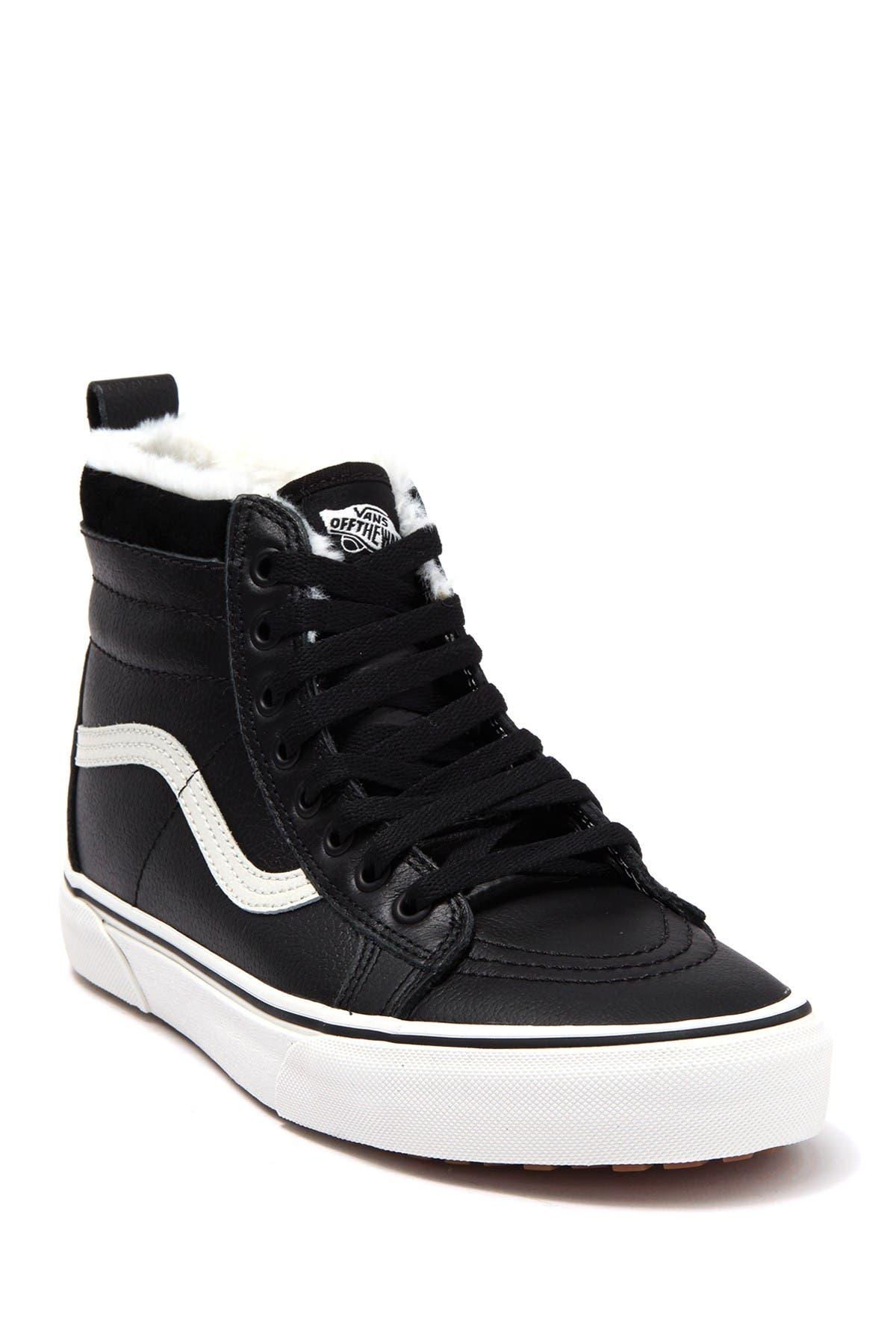 Image of VANS Sk8-Hi Leather Lined Sneaker
