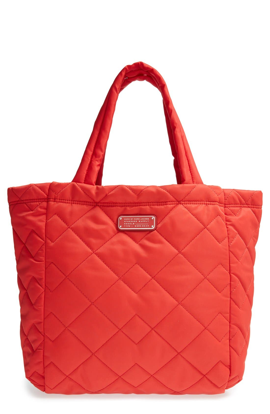 ,                             MARC BY MARC JACOBS 'Crosby' Quilted Nylon Tote,                             Main thumbnail 15, color,                             600