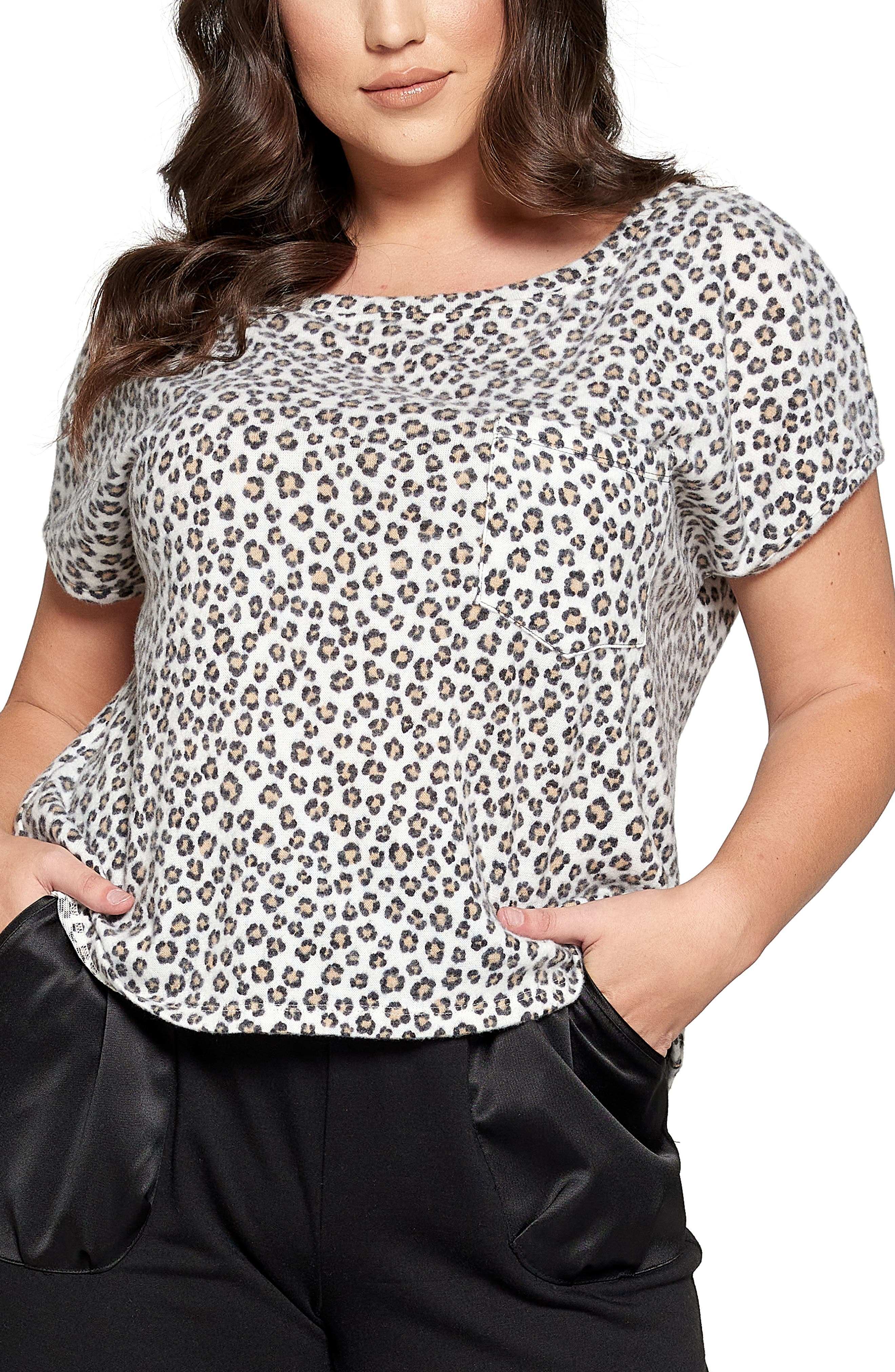 Satin Trim Pocket T-Shirt