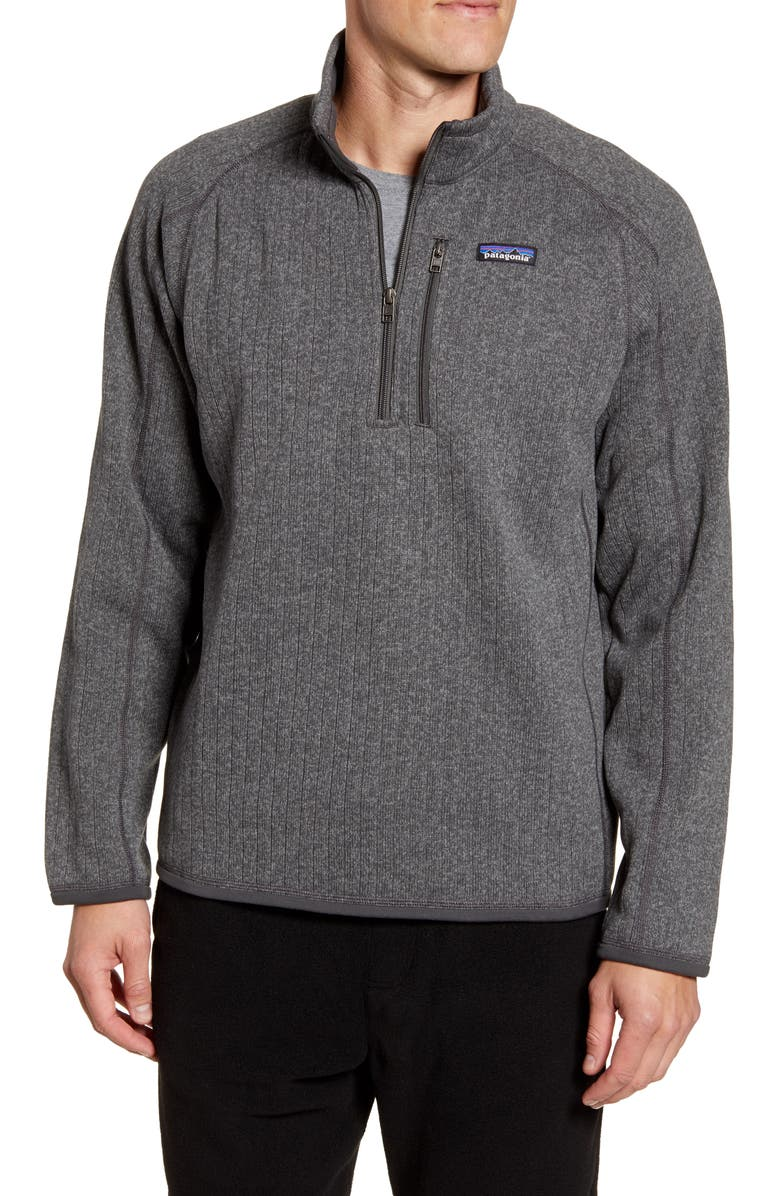 PATAGONIA Better Sweater Quarter Zip Pullover, Main, color, NICKEL RIB KNIT