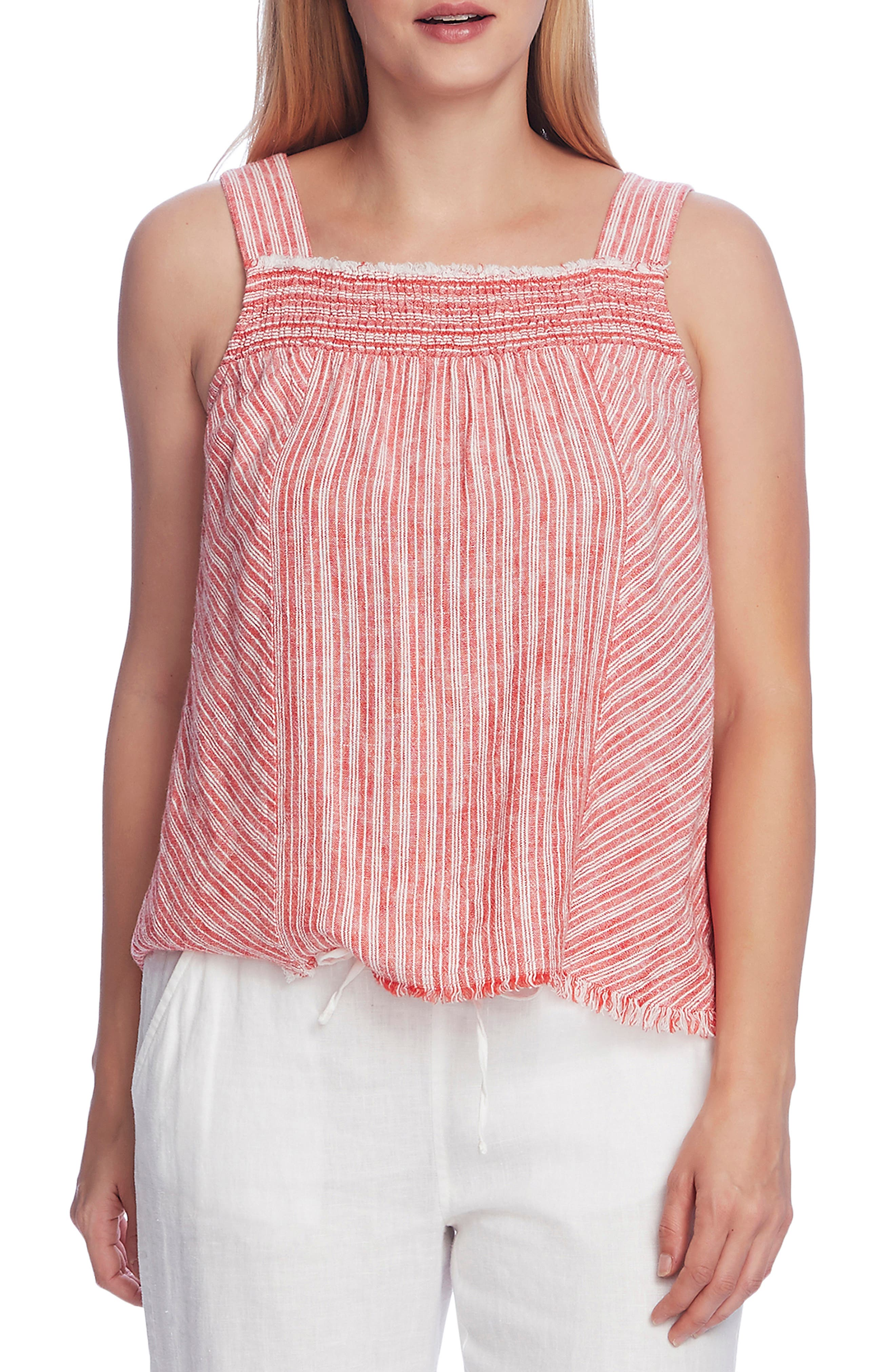 Image of Vince Camuto Sleeveless Modern Stripe Blouse