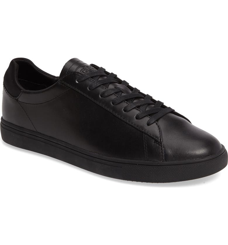 CLAE Bradley Sneaker, Main, color, BLACK LEATHER