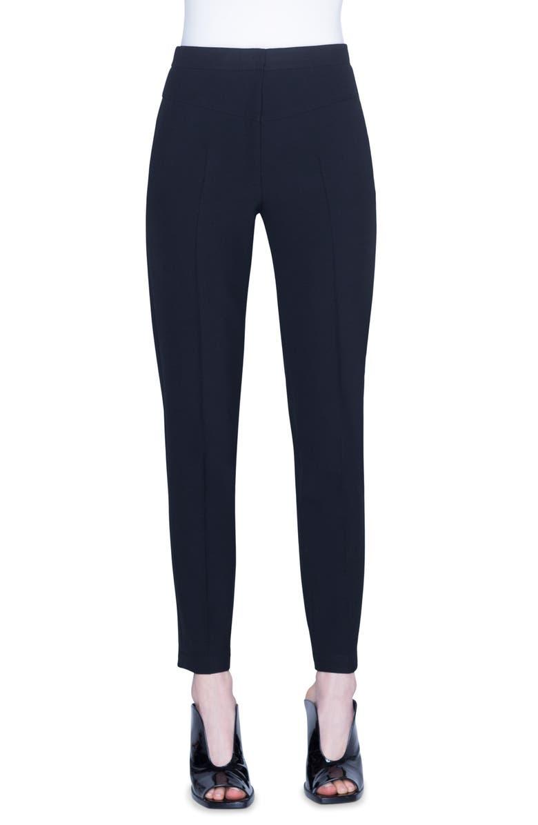 AKRIS PUNTO Freya High Waist Crepe Pants, Main, color, BLACK