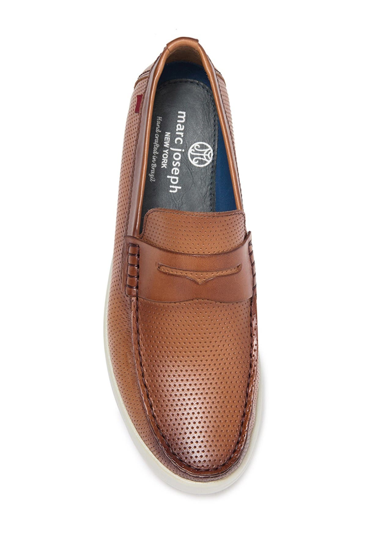 Image of Marc Joseph New York Southport Perforated Leather Penny Loafer