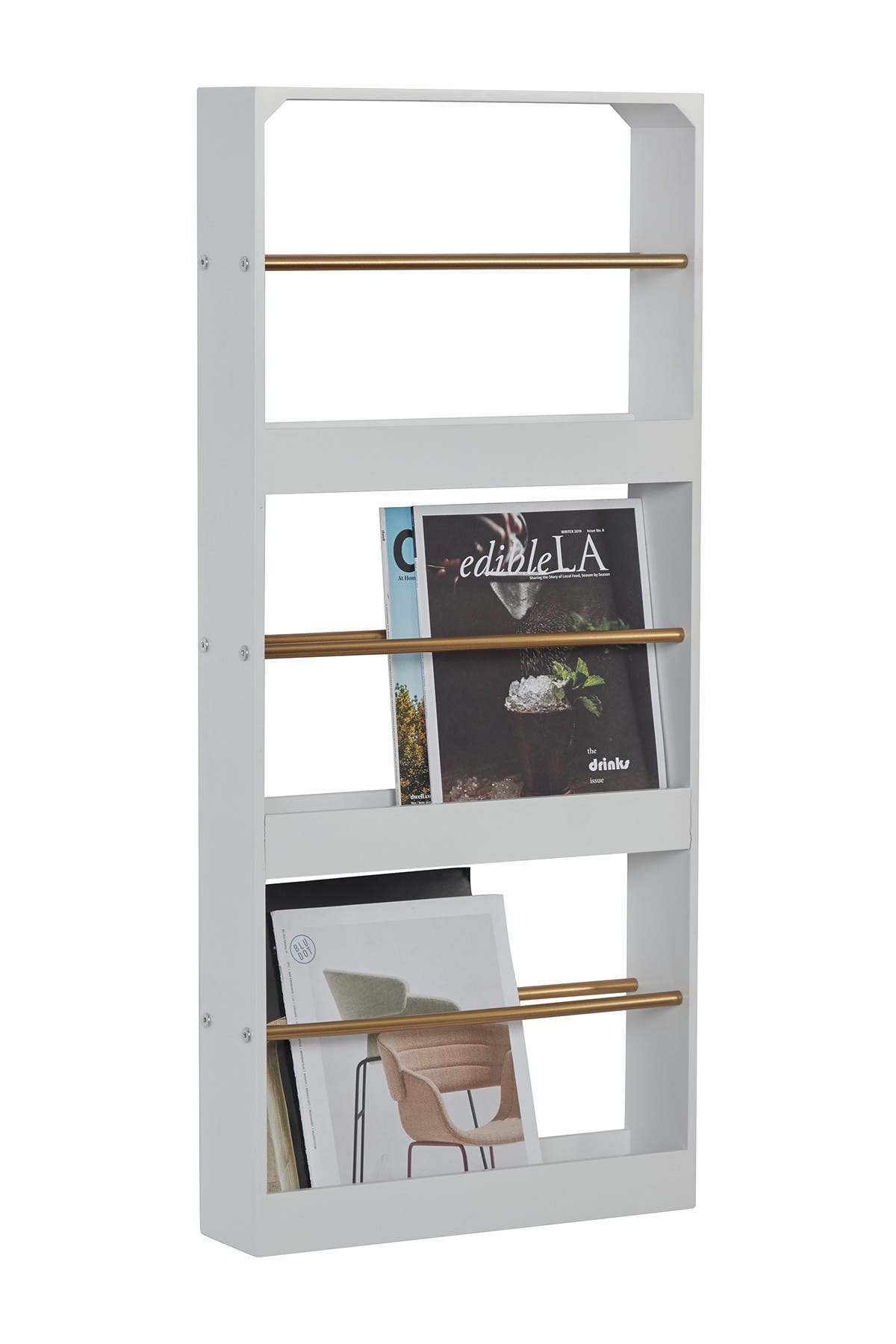 Willow Row 3 Tier Wood And Metal Wall Magazine Rack With White Finish 16 X 36 Nordstrom Rack