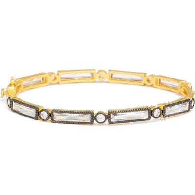 Freida Rothman Two Tone Baguette Crystal Bracelet