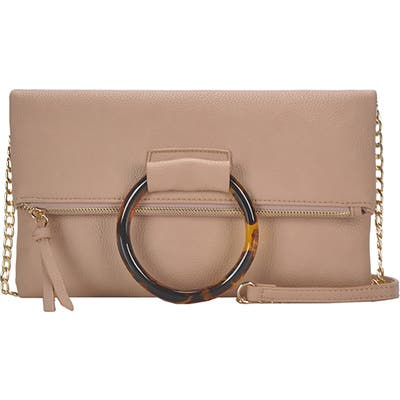 Antik Kraft Ring Convertible Faux Leather Clutch - Pink