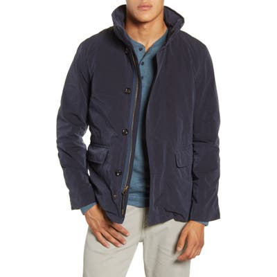 Billy Reid Water Resistant Hooded Down Field Jacket, Blue