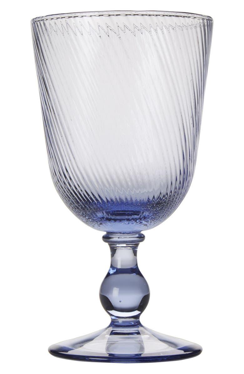JULISKA 'Arabella' Blue Glass Goblet, Main, color, 400