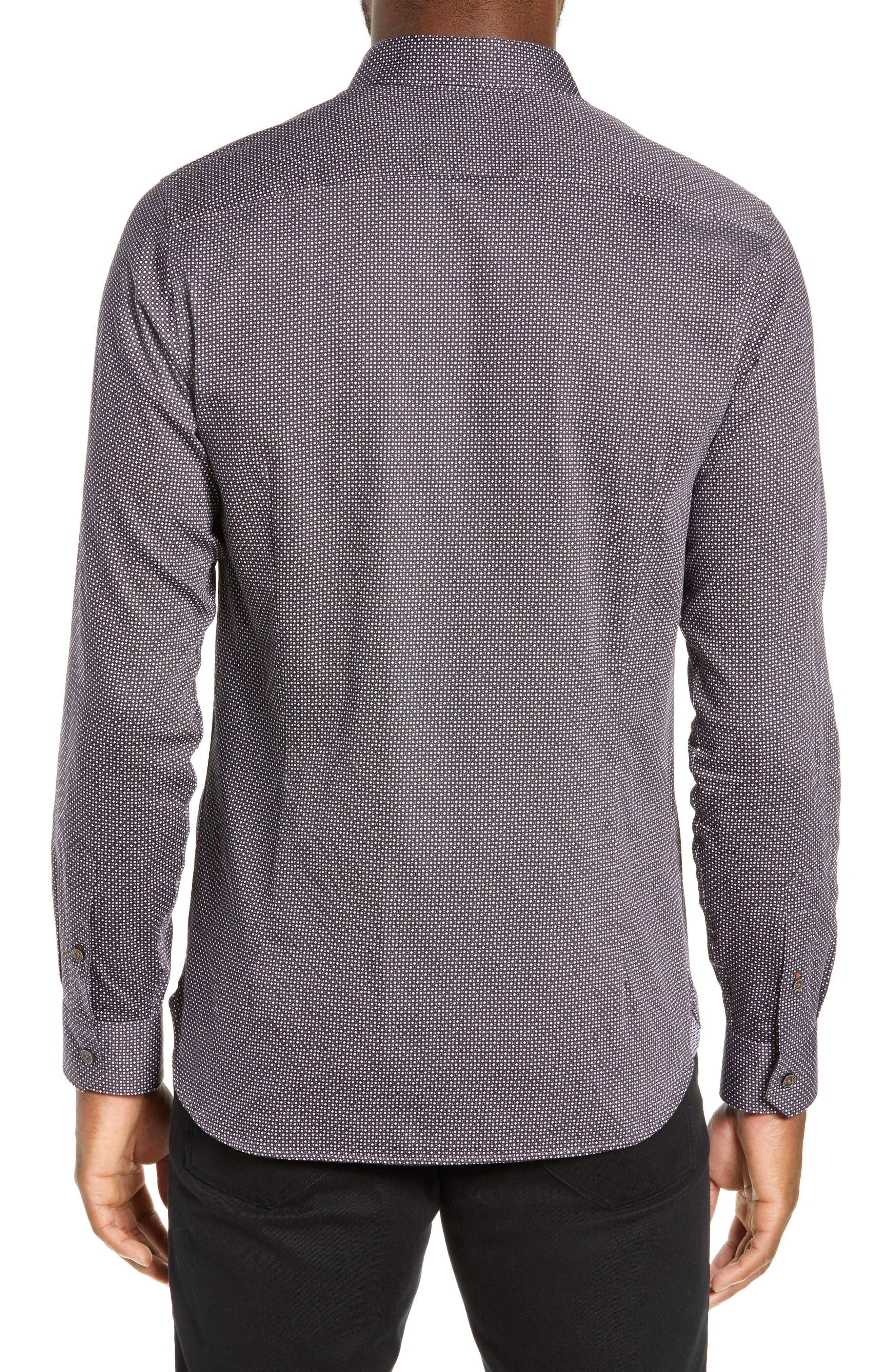 ,                             Subik Slim Fit Geo Print Sport Shirt,                             Alternate thumbnail 9, color,                             410