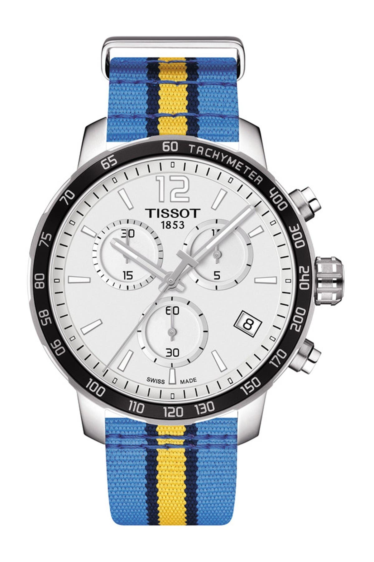 Image of Tissot Men's Quickster Chronograph NBA Denver Nuggets Watch, 42mm