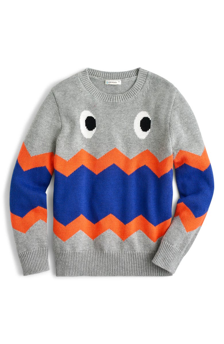 CREWCUTS BY J.CREW Max the Monster Crewneck Sweater, Main, color, 020