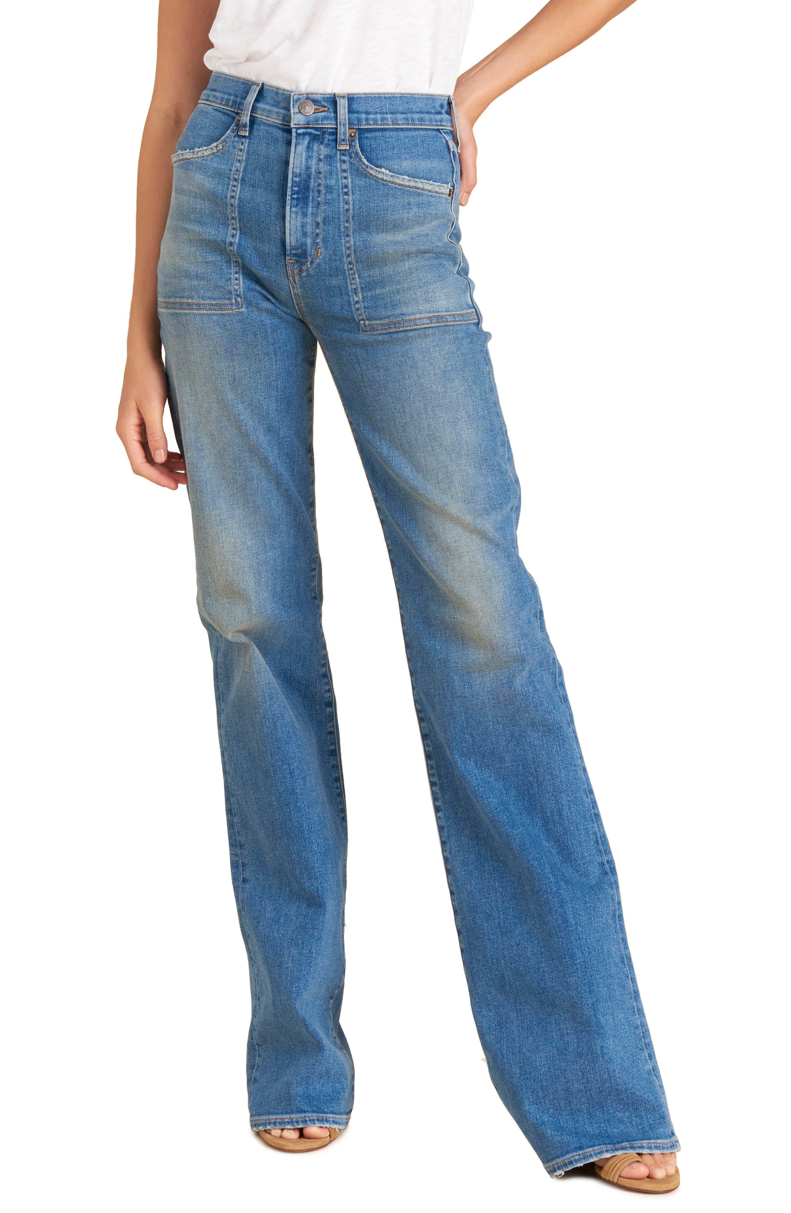 Women's Veronica Beard Crosbie High Waist Wide Leg Jeans