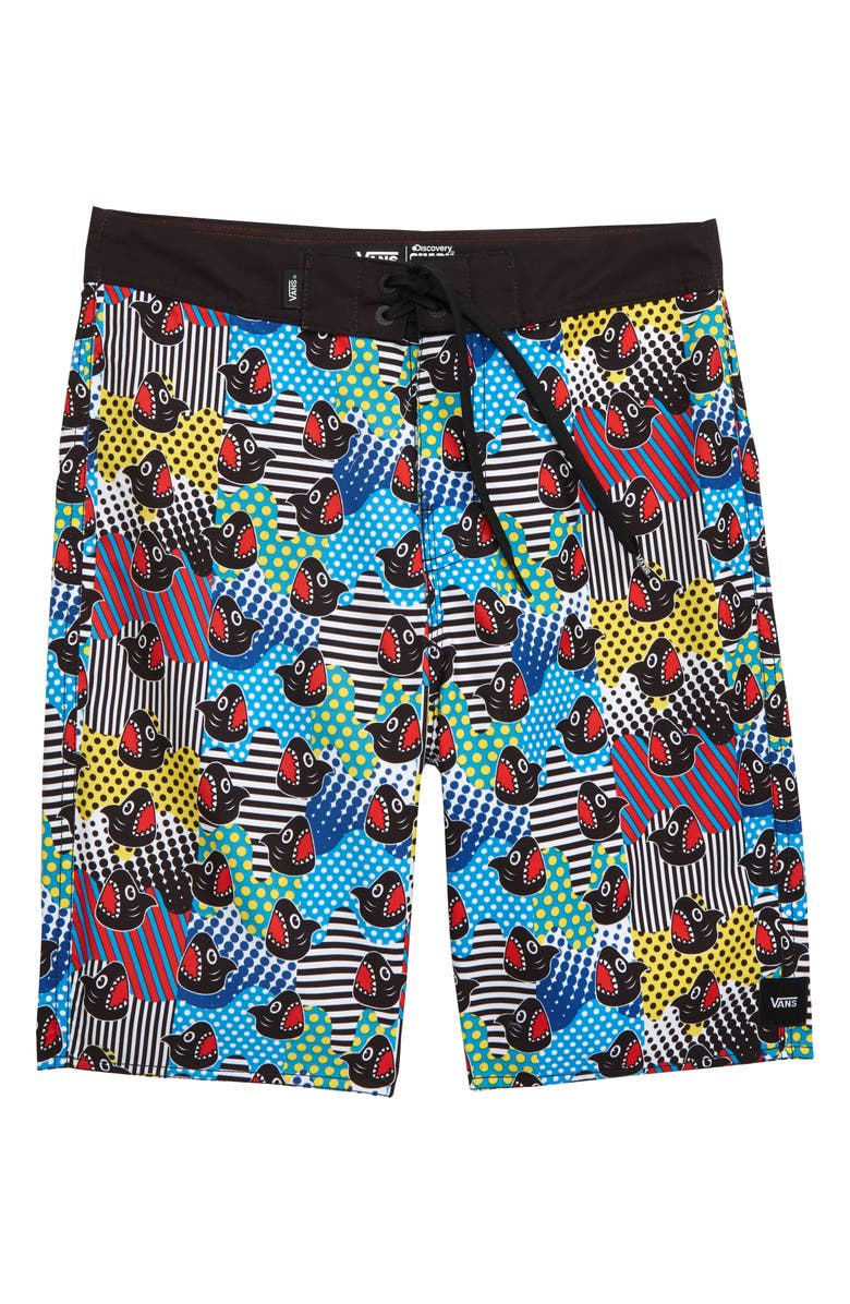 VANS x Shark Week Recycled Polyester Board Shorts, Main, color, SHARK WEEK