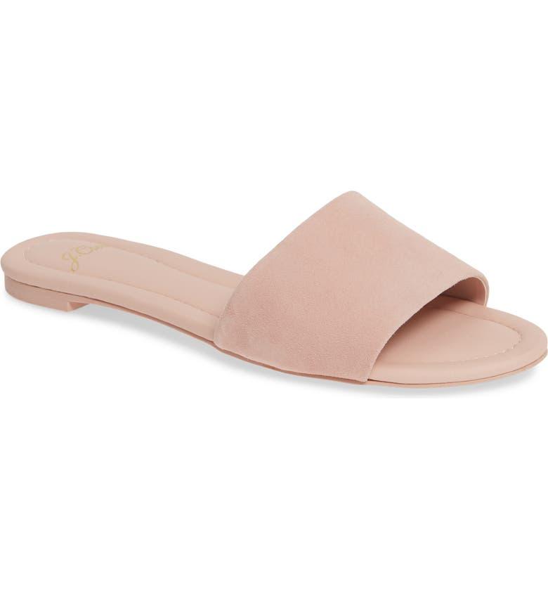 J.CREW Cora Suede Slide Sandal, Main, color, SUBTLE PINK