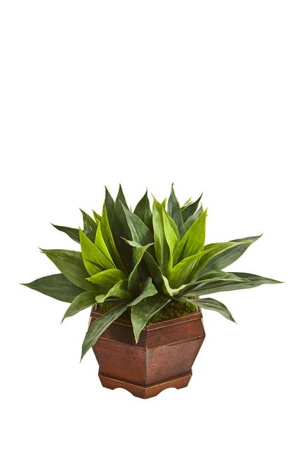 Nearly Natural Agave Succulent Artificial Plant In Decorative Planter Nordstrom Rack