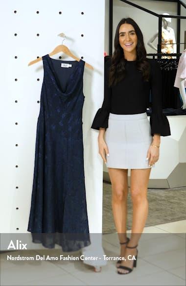 Cowl Neck Jacquard Midi Dress, sales video thumbnail