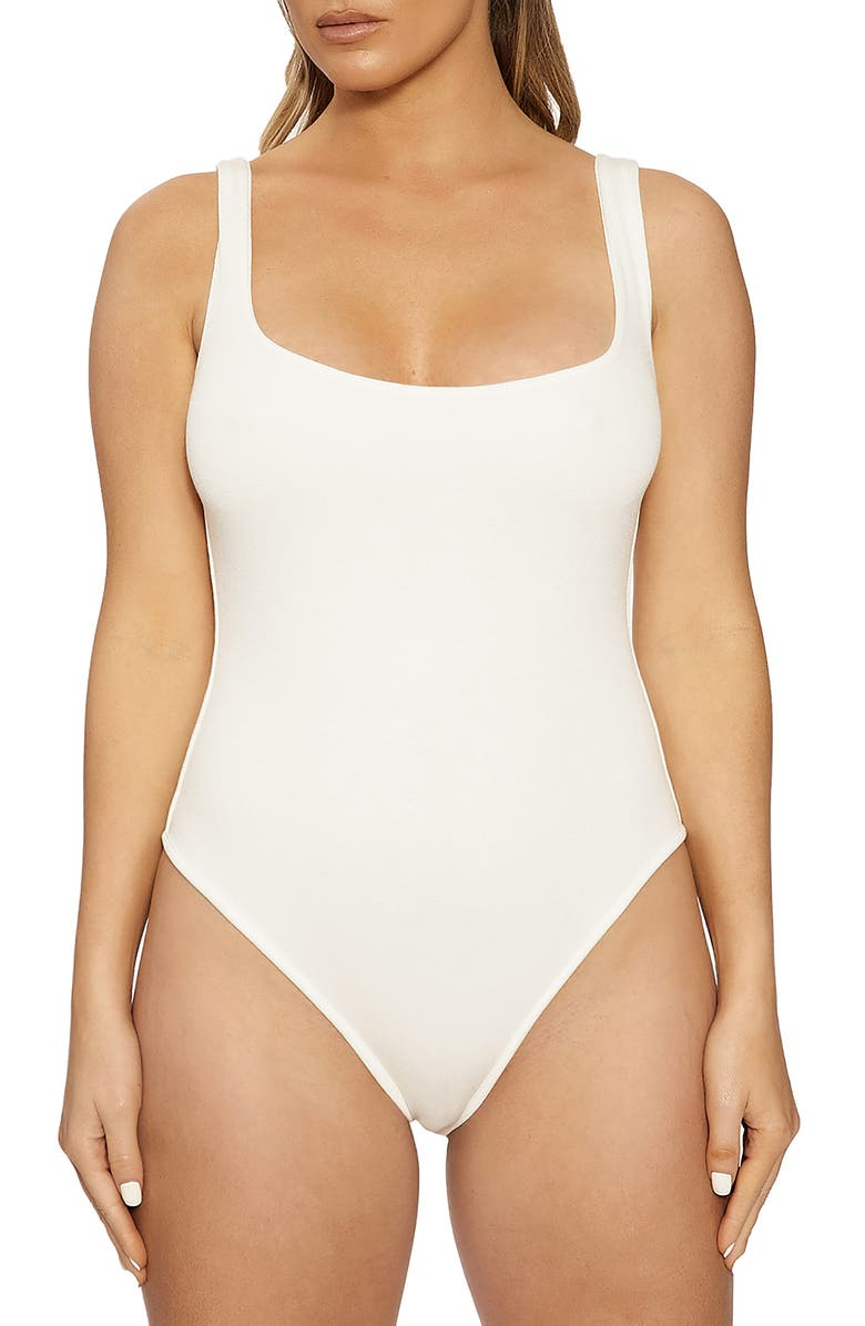 NAKED WARDROBE Bodysuit, Main, color, WHITE