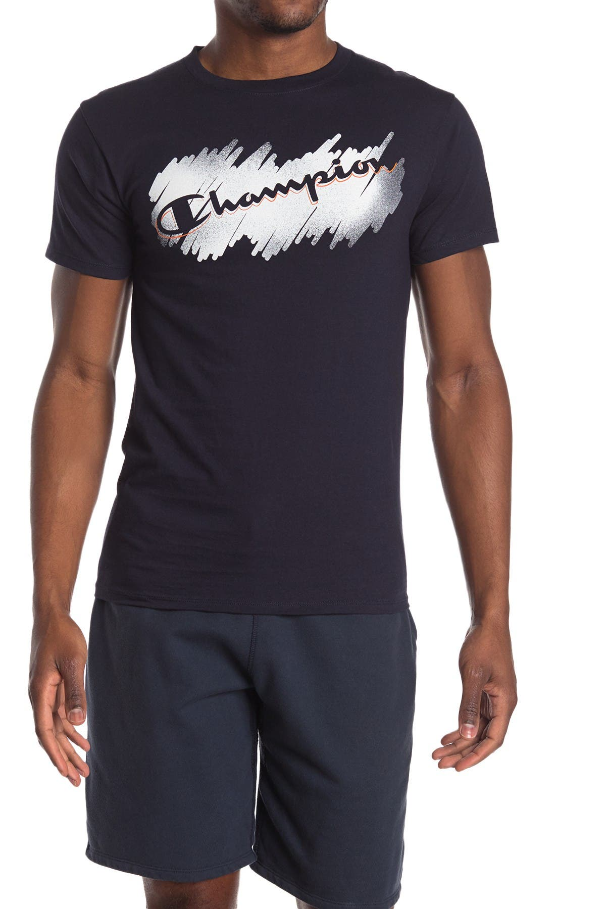 Image of Champion Logo Print T-Shirt