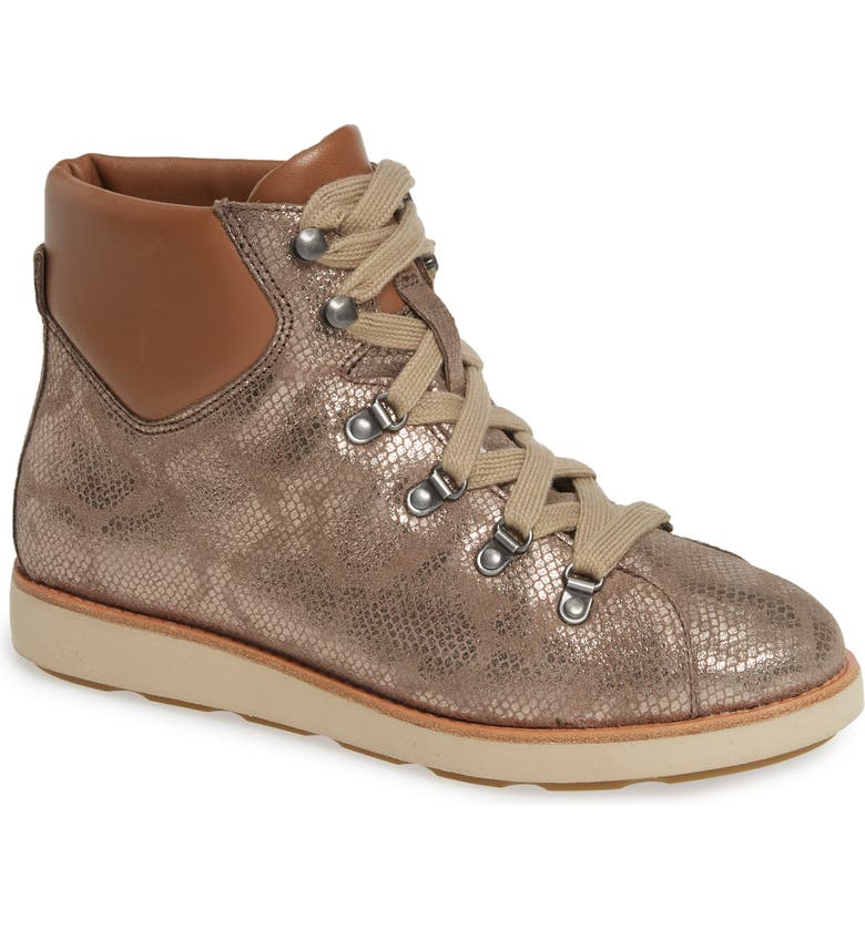 BIONICA Natick Lace-Up Boot, Main, color, TAUPE LEATHER