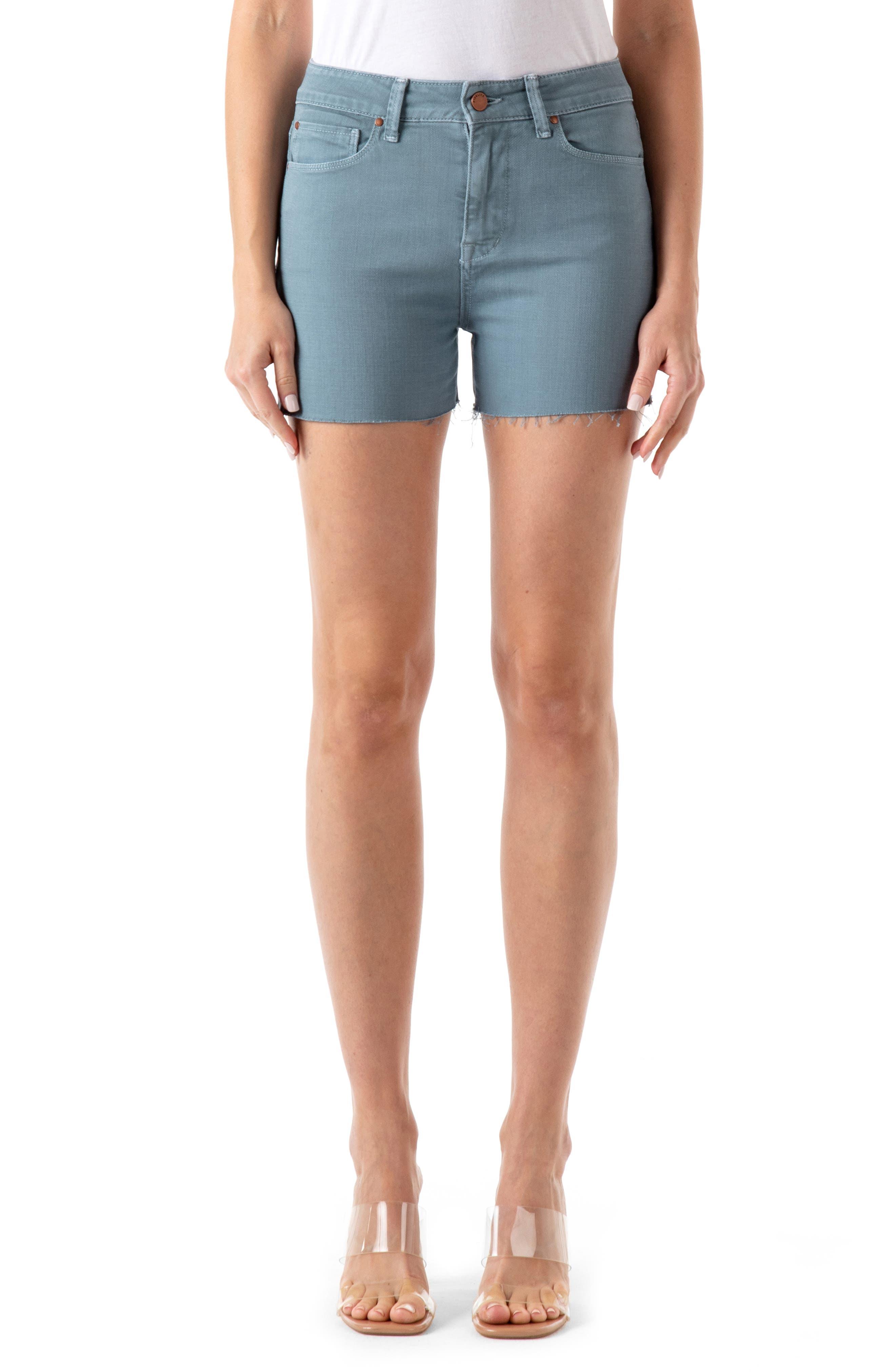 Malibu Raw Hem Denim Shorts