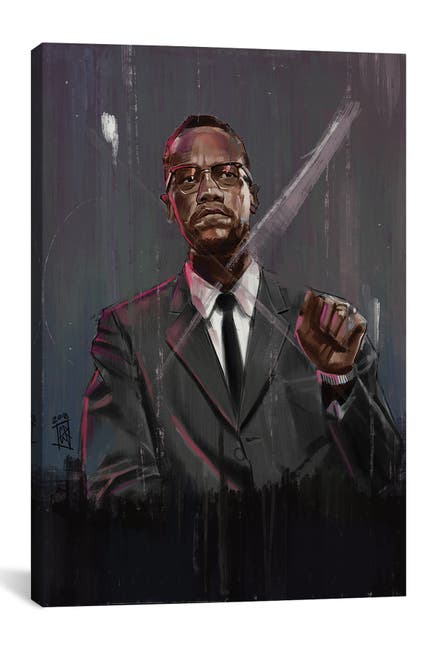 Image of iCanvas Malcolm X by Gordon Rowe