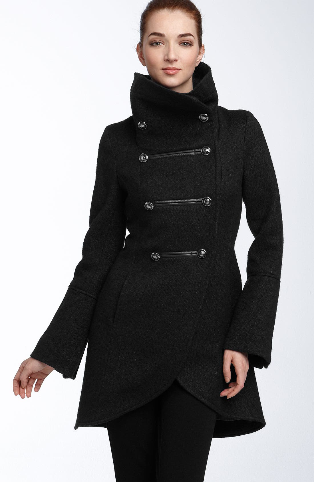 ,                             'Diana' Military Inspired Wool Blend Coat,                             Main thumbnail 1, color,                             001