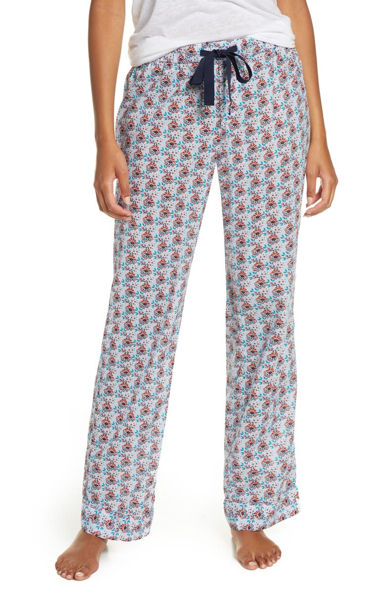 J.CREW Crop Lightweight Cotton Pajama Pants, Main, color, 400