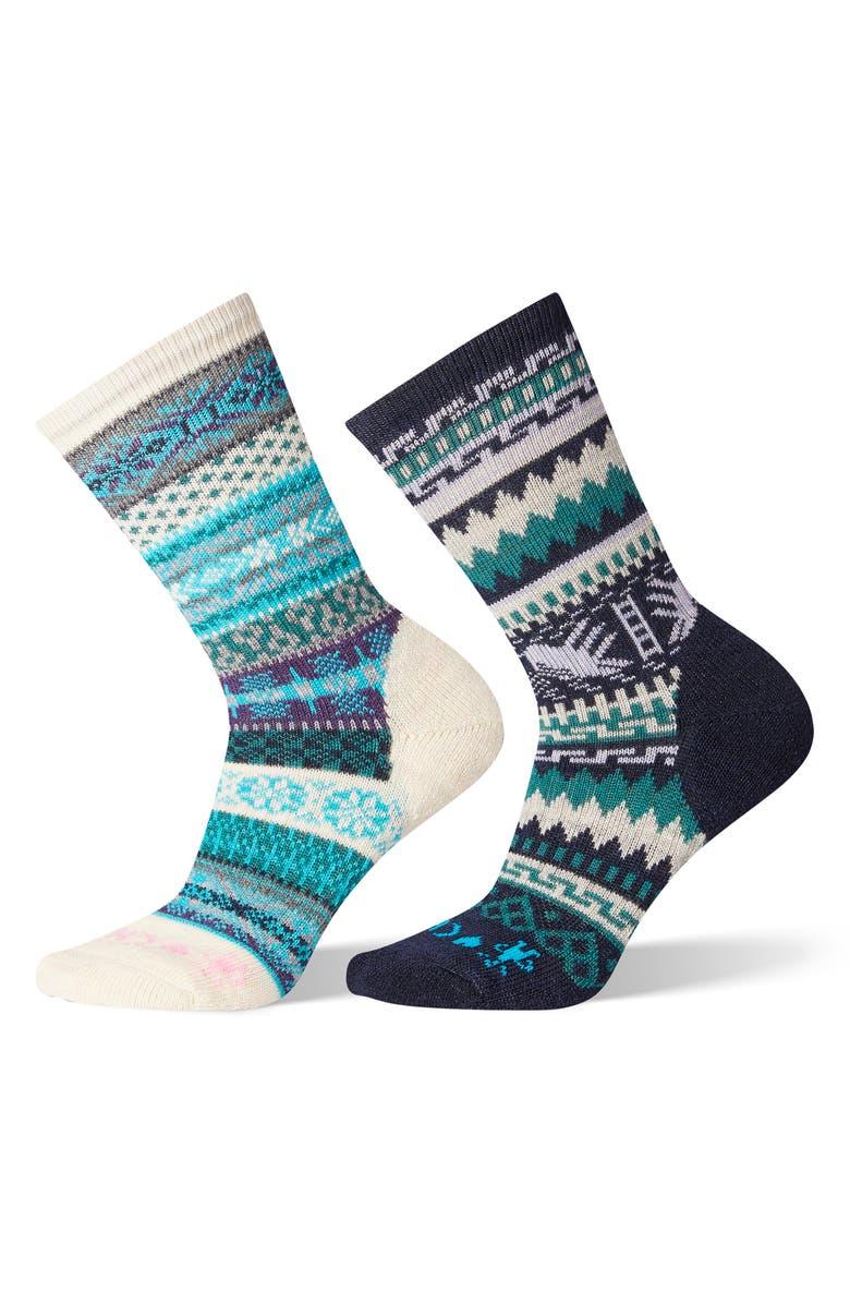 SMARTWOOL x CHUP 2-Pack Crew Socks, Main, color, MOONBEAM