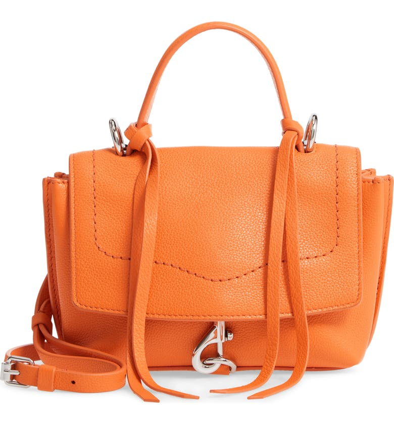 REBECCA MINKOFF Mini Stella Leather Satchel, Main, color, 800