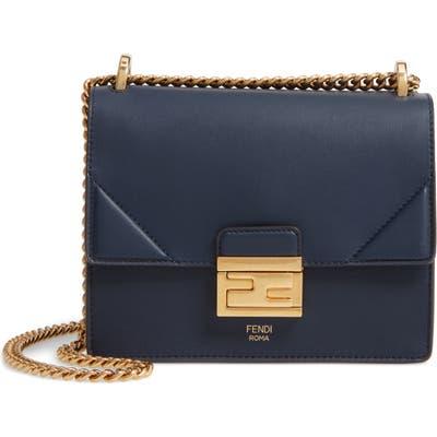 Fendi Small Kan U Leather Shoulder Bag - Blue