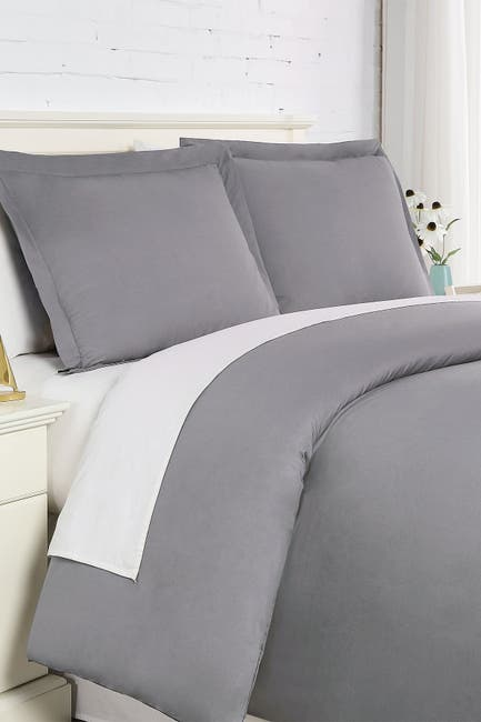 Image of SOUTHSHORE FINE LINENS Luxury Collection 200 Thread-Count 100% Cotton Oversized Duvet Cover Sets - Full/Queen