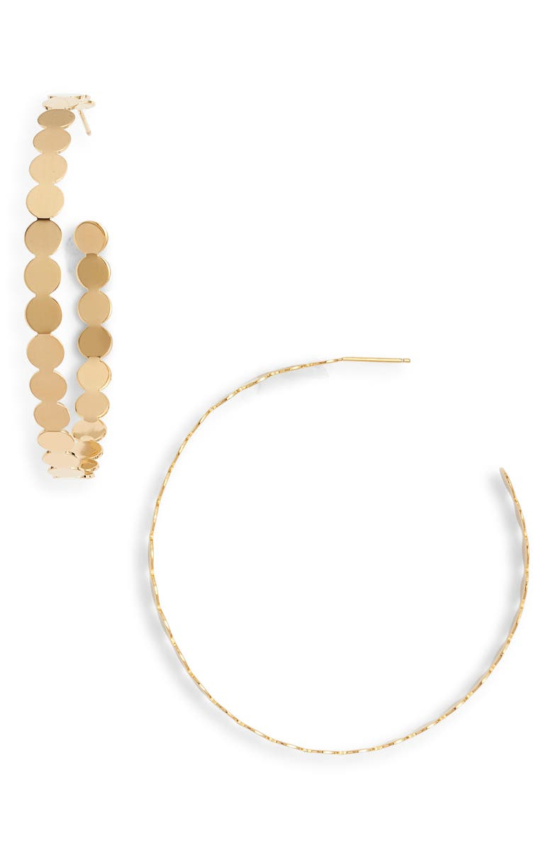 JENNIFER ZEUNER Bilbao Hoop Earrings, Main, color, 710