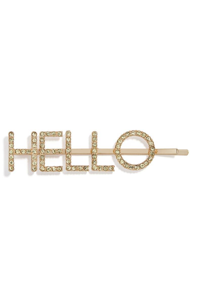 BAUBLEBAR Hello Crystal Bobby Pin, Main, color, 710