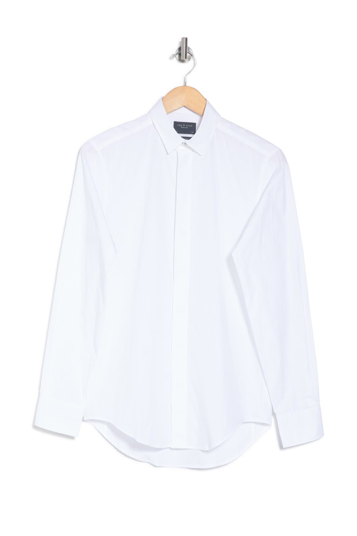 Image of Rag & Bone Solid Slim Fit Shirt