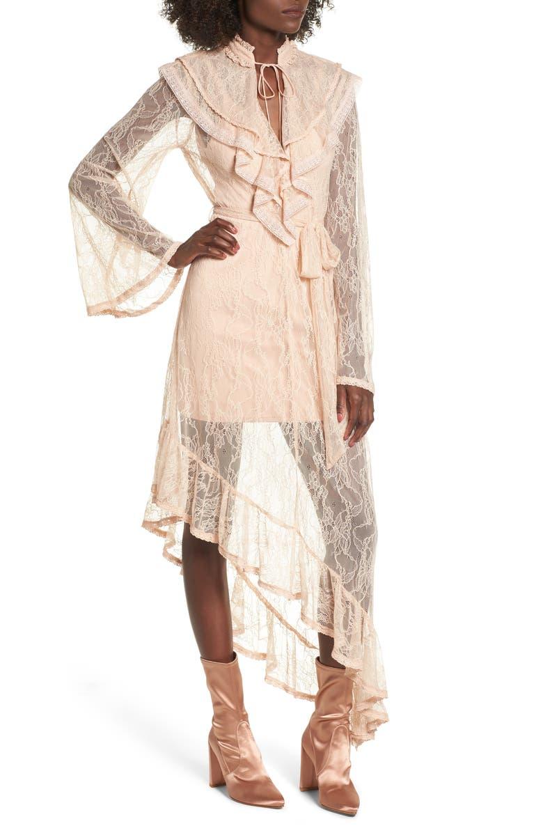 AFRM Ray Asymmetrical Lace Dress, Main, color, 250