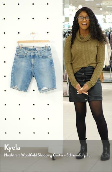 Nikki Cutoff Denim Bermuda Shorts, sales video thumbnail