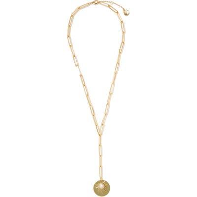 Vince Camuto Star & Disc Pendant Y-Shape Necklace