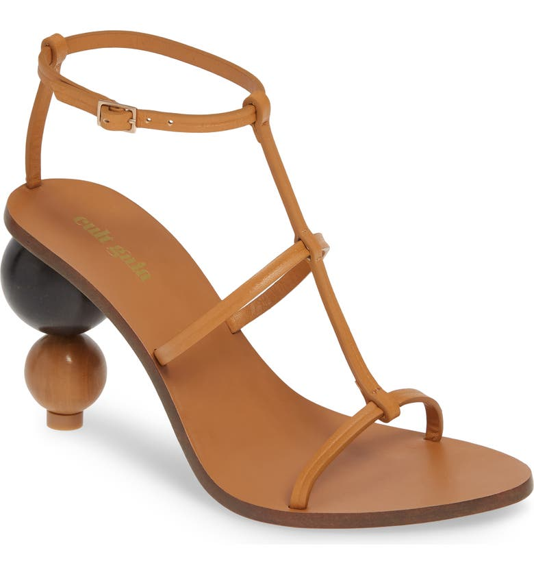 CULT GAIA Eden Sandal, Main, color, COGNAC