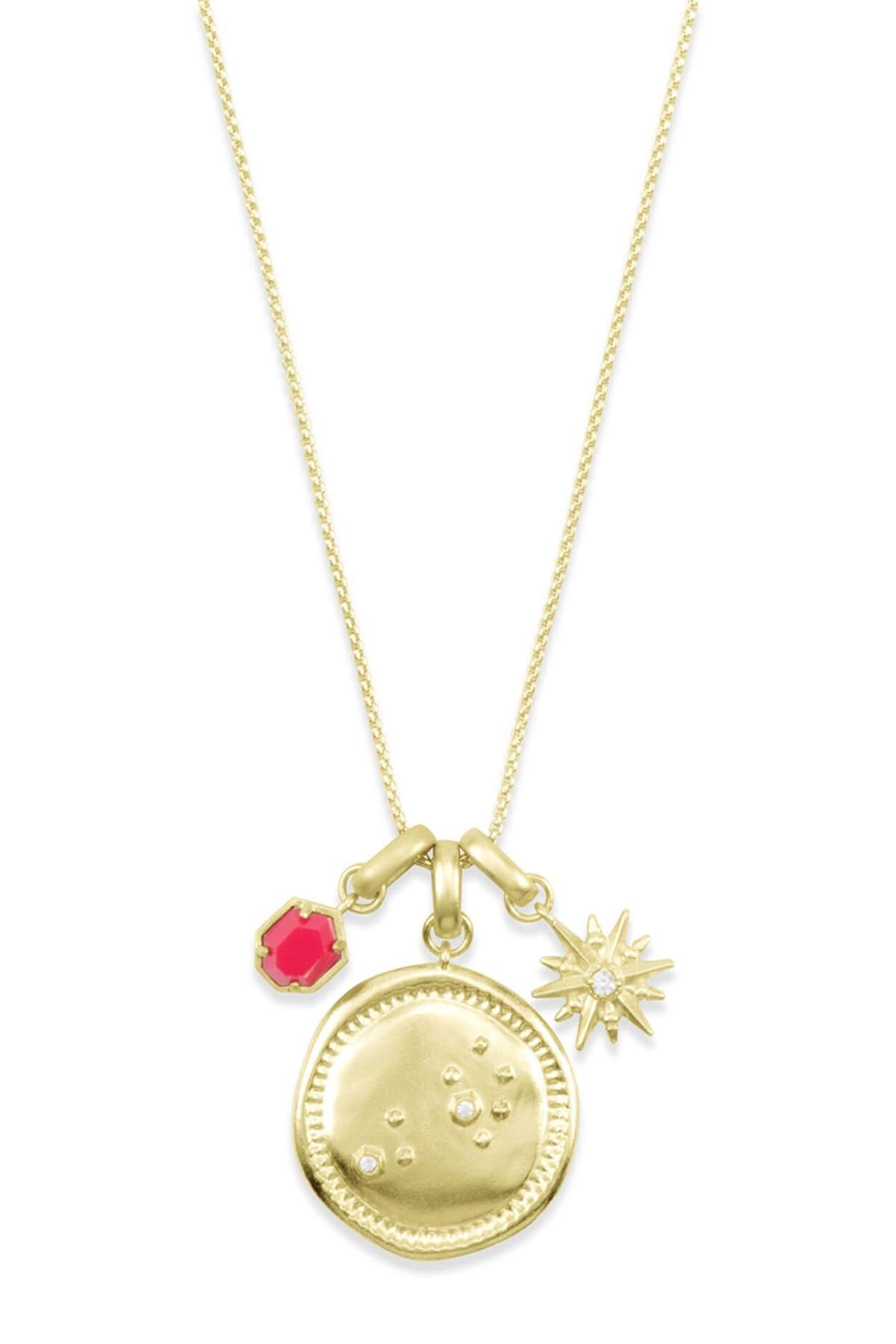 Image of Kendra Scott 14K Gold Plated Leo Charm Necklace