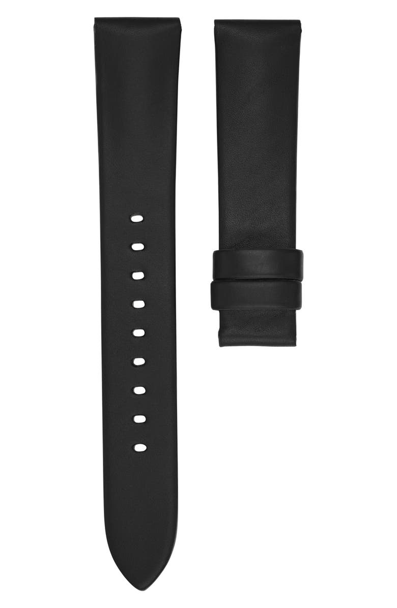 MICHAEL KORS Runway Leather Watch Strap, Main, color, 001